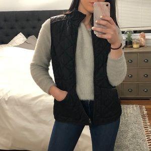 Ralph Lauren quilted felt lined leather vest